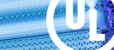 Blue UVC lighting with UL Logo