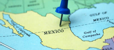 Mexico map with pin ul latam
